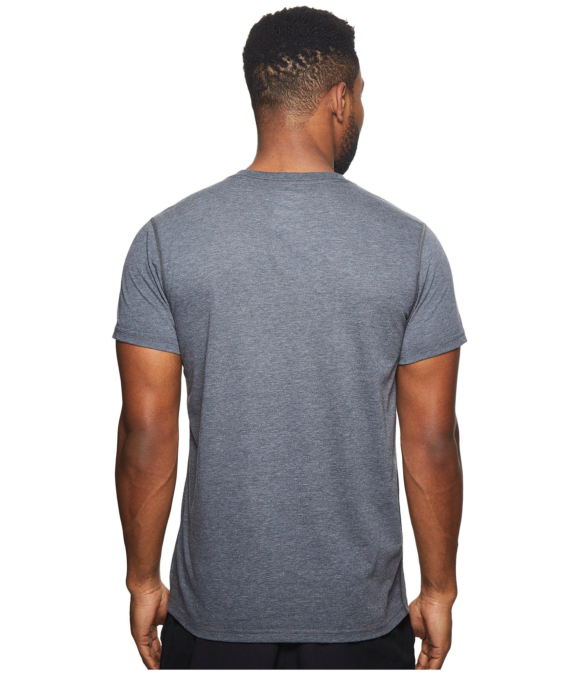Ultimate V Heather Short neck Adidas Tee Dark Sleeve Grey 4awxdq
