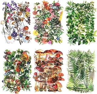 240 feuilles Autocollants Scrapbook Autocollants de fleur Autocollant de décoration Autocollants de planificateur Autocoll...