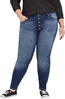 Plus Size KanCanTM high Rise Button Fly Skinny Jean