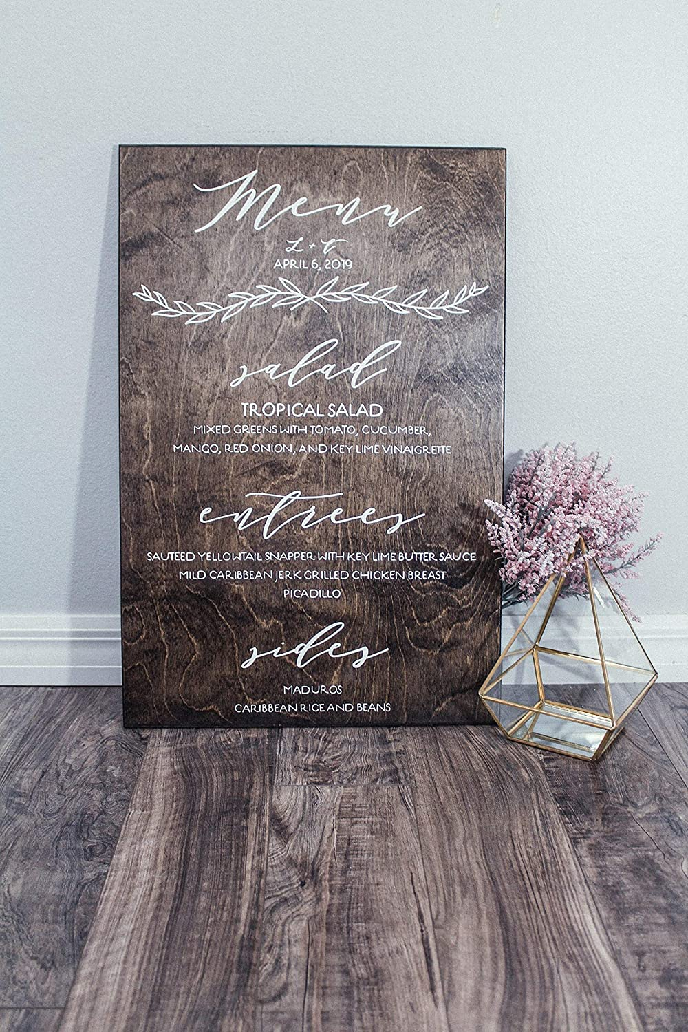 Kiss Cervical Menu Wood Sign Wedding Ranking TOP14 Reception New York Mall Signs for