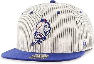 MLB New York Mets Woodside Captain Adjustable Snapback Hat, One Size, Navy