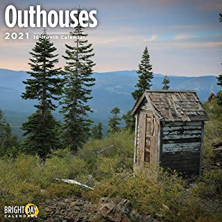 Bright Day Calendars 2021 Outhouses Wall Calendar by Bright Day, 12 x 12 Inch, Country Side Farm Barn Outdoors