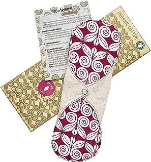 普通の日用 南インド「Eco Femme」布ナプキン 洗えるオーガニックコットン(肌面無漂白)防水あり・内側に7層のフランネル使用 Day Pad - Natural Organic Cloth Sanitary Pads Menstrual ...