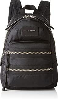 Nylon Biker Mini Backpack, Black, One Size