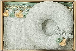ESMERALDA(エスメラルダ) 出産祝い ギフトセット 日本製 (授乳ケープ+ドーナツ枕) インポートデザイン グリーン(タッセル) 0か月~