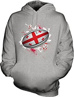 CandyMix Unisex Northern Ireland Rugby Ball Splatter Mens/Womens Hoodie, Size 5X-Large, Color Grey Marl