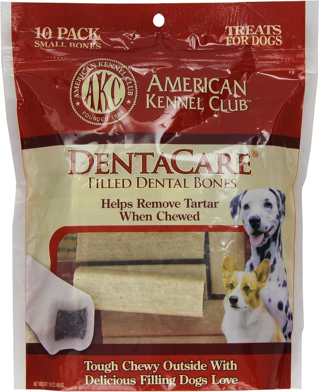 American Kennel Club 10 Count Filled Bone DentaCare Dog Treats, 3Inch