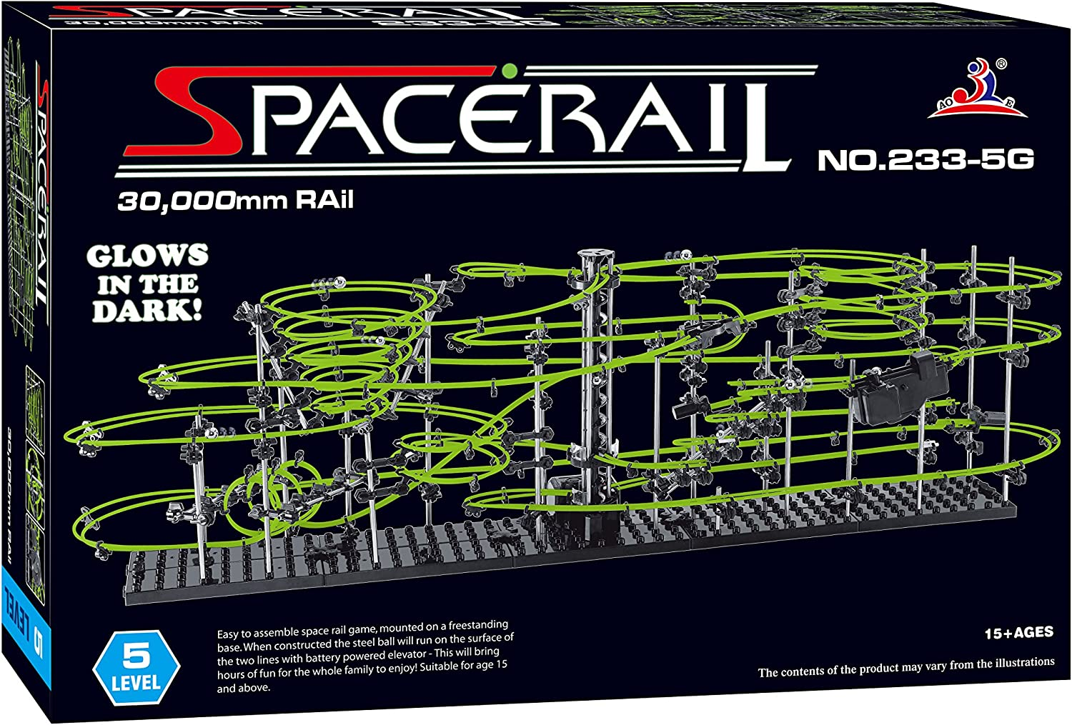 Max 81% OFF SpaceRail Glow in The Dark 30 lowest price Roller Buildin 000mm Rail Coaster