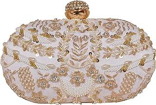 sugarcrush cream Diamond Frame Women's Embroidered clutch