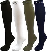 جوارب طويلة مضغوطة للشباب وكرة القدم وكرة القدم. 4 عبوات للركبة للأطفال والشباب؛ مجموعة هدايا للأولاد والبنات؛ ألوان متنوعة: أسود، أبيض، كاكي، أزرق داكن يناسب الأعمار من 5 إلى 9 سنوات.