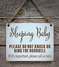 Sleeping Baby Sign - Please Do Not Knock Sign - Baby Sleeping Sign Call or Text - Baby Shower Gift