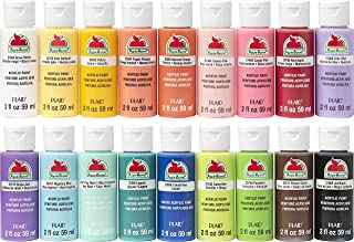 Acrylic Paint Set, (2 fl oz/59 ml) Assorted Matte Finish Colors for Painting, Drawing & Art Supplies, DIY Arts and Crafts ...