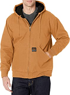 Staghorn Men's Realtree Quilted Lined Canvas Hooded Jacket