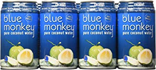 Blue Monkey 100% Natural Coconut Water, 11.2-Ounce (Pack of 24) (Packaging May Vary)