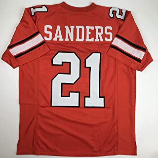 Unsigned Barry Sanders Oklahoma State OKST Orange Custom Stitched College Football Jersey Size Men`s XL New No Brands/Logos