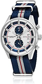 Stuhrling - Watch - 845.03_Blue/Blue, Grey and Red Stripe