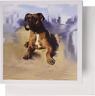 3dRose Brindle Boxer - Greeting Cards, 6 x 6 inches, Set of 12 (gc_4141_2)