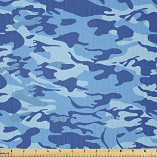 Ambesonne Camouflage Fabric by The Yard, Abstract Camouflage Costume Concealment from The Enemy Hiding Pattern, Stretch Kn...