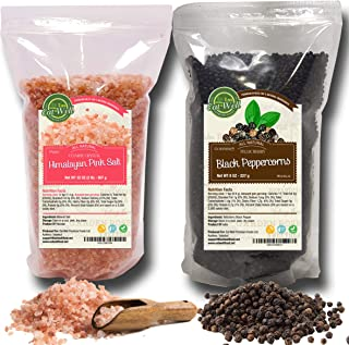 Whole Black Peppercorns 12oz   Himalayan Pink Salt (Coarse Grain) 2 lbs   Premium Grade, Freshly Packed   Pepper Corns For Grinders Refill   Herbs & Spices   by Eat Well Premium Foods