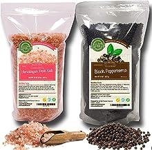 Whole Black Peppercorns 12oz | Himalayan Pink Salt (Coarse Grain) 2 lbs | Premium Grade, Freshly Packed | Pepper Corns For...