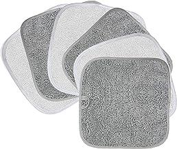 Polyte Premium - Duk för sminkborttagning och ansiktstvätt - kemikaliefri och hypoallergen - mikrofiber - 6-pack - grå, vi...