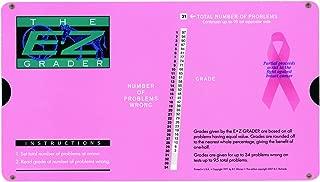 Grading Calculator - E-Z Grader Teacher's Aid Scoring Chart - Breast Cancer Edition (Pink) - 8-1/2
