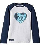 Toobydoo - Glitter Heart Baseball Tee (Toddler/Little Kids/Big Kids)