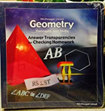 Geometry Concepts and Skills Answer Transparencies for Checking Homework ISBN 0618140360