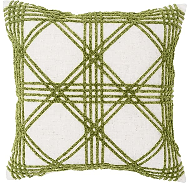 C F Home Tufted 17 Throw Pillow With Lattice Design