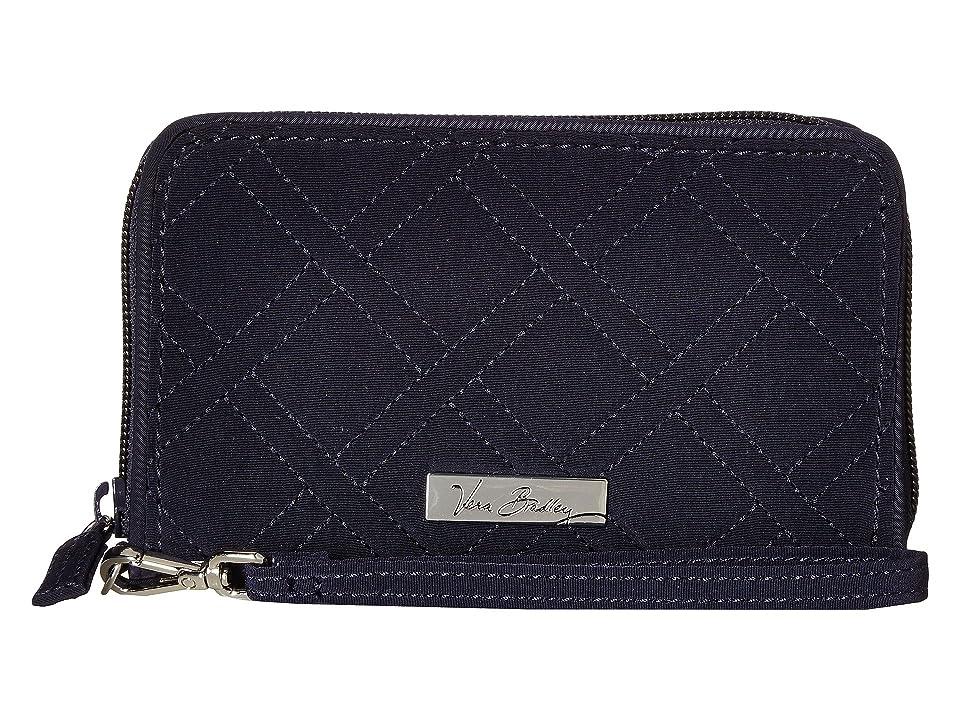 Vera Bradley RFID Grab Go Wristlet (Classic Navy) Wristlet Handbags