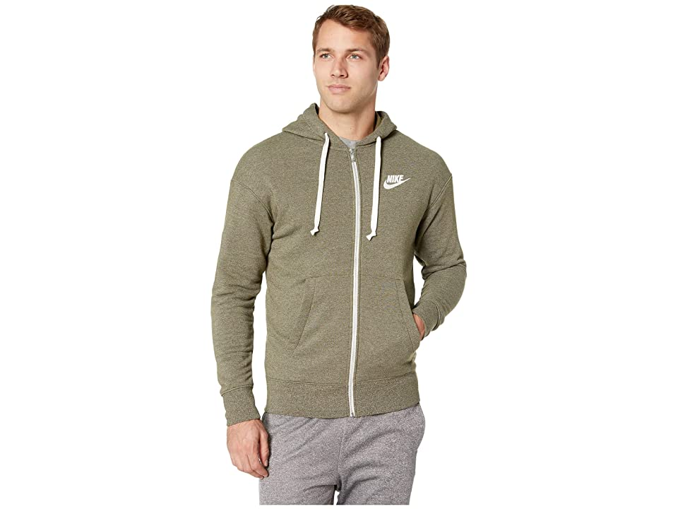 Nike NSW Heritage Hoodie Full Zip (Olive Canvas/Heather/Sail) Men