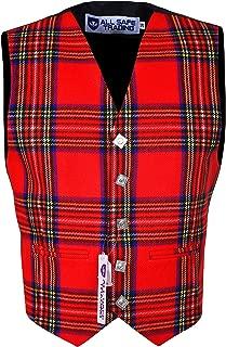 Scottish/Irish Formal Tartan Waistcoats/Vests - 4 Plaids - Sizes 36-54