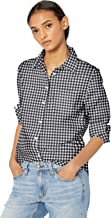 Best black and white checkered button up shirt Reviews