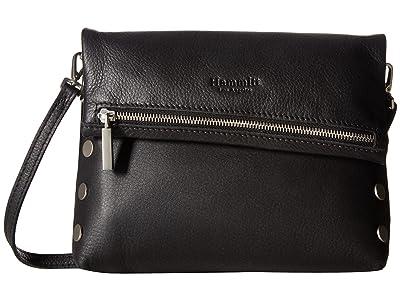 Hammitt VIP Medium (Black/Brushed Silver) Cross Body Handbags