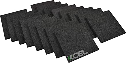 XCEL - Acoustic Insulation Studio Pads, Pack of 16, Size 6 Inch x 6 Inch x 1/2 Inch