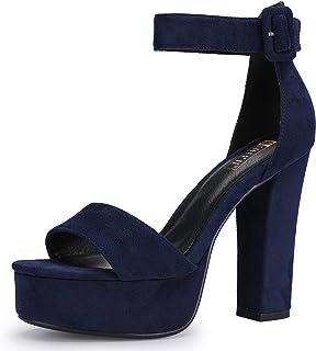 31e4212cacc IDIFU Women s IN5 Sabrina Ankle Strap Platform High Chunky Heels Party  Sandal