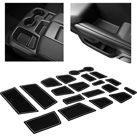 Crew Cab, Blue Trim Console JDMCAR Custom Liner Accessories Compatible with Colorado and Canyon 2015-2021 and Cup Holder Rubber Mats 26-PC Set Door Pocket