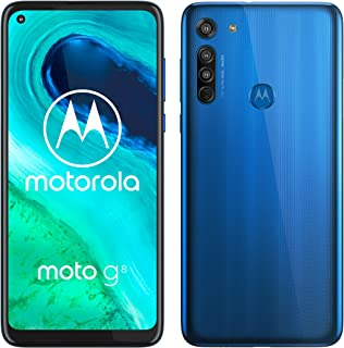 "Motorola Moto G8 - Smartphone de 6,4"" HD+ o-notch, 4G, Qualcomm Snapdragon SD665, Sistema de cámara triple, 64 GB, 4 GB RAM, Android 10 - Color Azul"