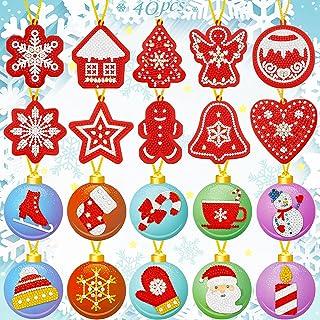 Christmas DIY Diamond Painting Tags Diamond Painting Key Chain Hanging Pendant Xmas Hanging Decoration Handicraft Cards fo...