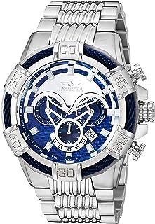 Invicta de los hombres 'tornillo acero inoxidable de cuarzo reloj Casual, color: plateado (modelo: 25541–)