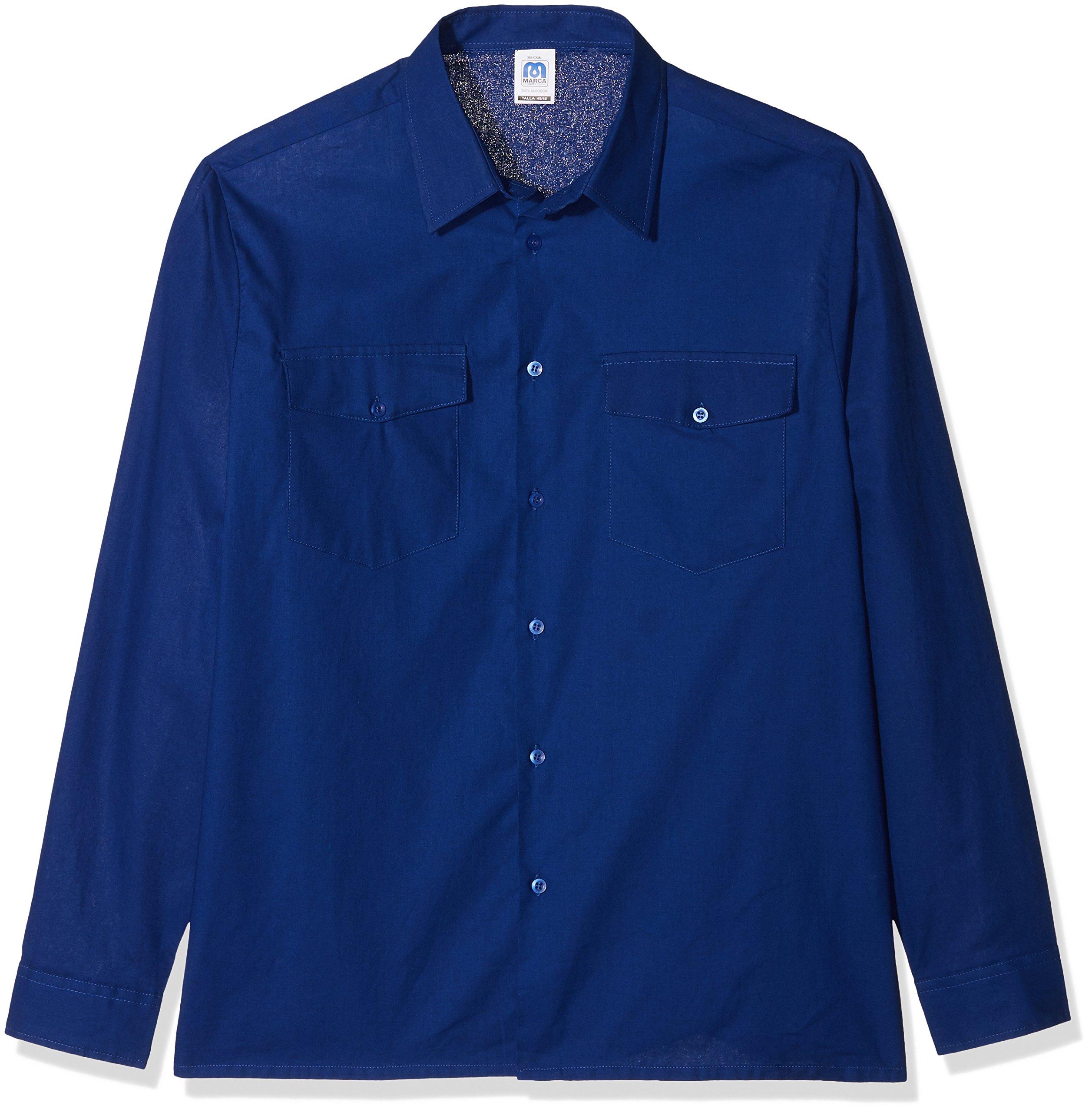 Marca 388-CXML4546 - Camisa manga larga algodon talla 45-46 azulina: Amazon.es: Bricolaje y herramientas