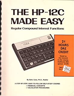 The HP-12C Made Easy : Regular Compound Interest Functions