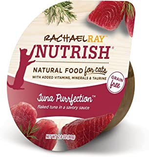 Rachael Ray Nutrish Natural Wet Cat Food, Tuna Purrfection, Grain Free, 2.8 Oz Tub