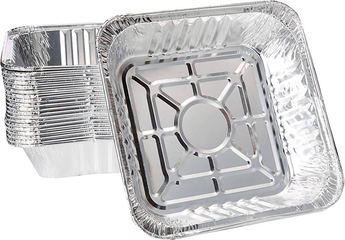10 X 10 Strong Aluminum Square Poultry Baking Pans Pack Of 20 Great For Transporting Disposable Silver Foil Cooking Tins Ideal For Poultry Coffee Cakes