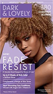 Permanent Hair Color by Dark and Lovely Fade Resist I Up to 100% Gray Coverage Hair Dye I Chestnut Blonde 380 I SoftSheen-Carson I Packaging May Vary