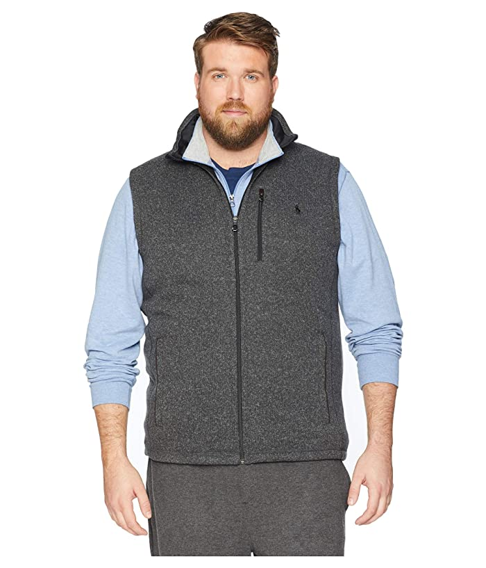 Polo Ralph Lauren Big Tall Sweater Fleece Vest (Windsor Heather) Men