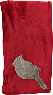POSH HOME Animal Applique Throw 50x60 (Cardinal)
