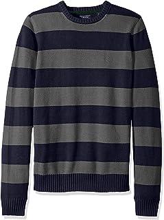 IZOD Men's Newport Fine 7 Gauge Stripe Crew Sweater