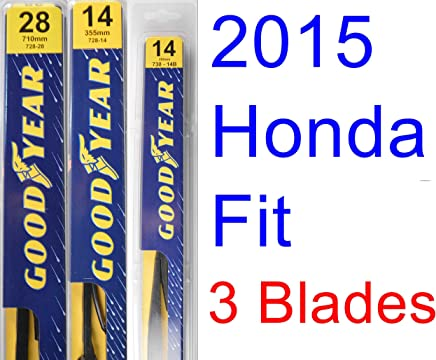 2015 Honda Fit Replacement Wiper Blade Set/Kit (Set of 3 Blades) (