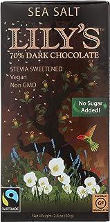 Lilys Chocolate, Chocolate 70% Sea Salt Stevia, 2.8 Ounce
